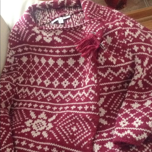 84% off Other - CAbi WOOL BLEND FAIR ISLE SWEATER PONCHO. from ...